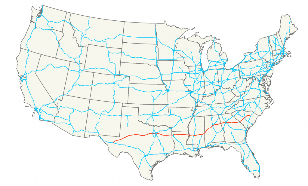 Interstate 20 - Wikipedia - Texas Mile Marker Map I 20