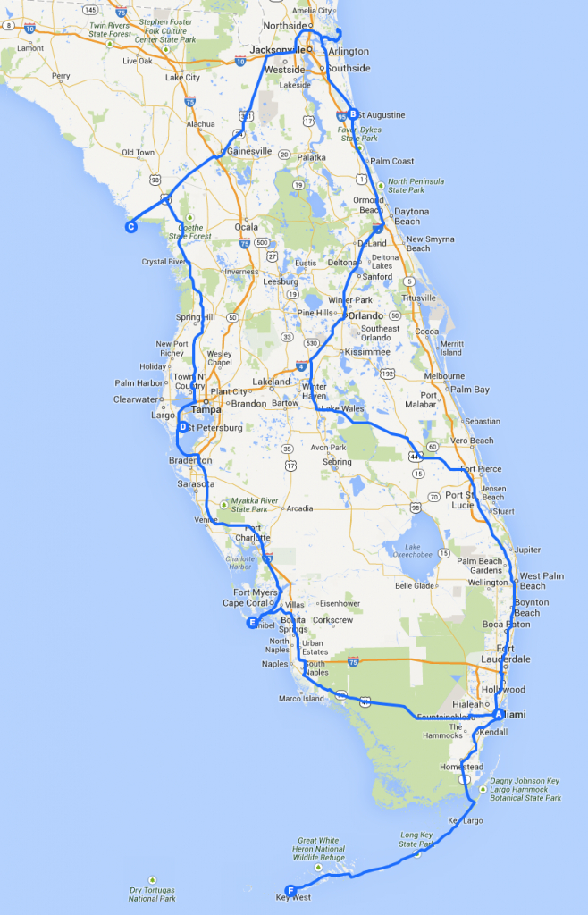 Introduction: A Three Week Road Trip Around Florida - Grown-Up - Florida Road Trip Map