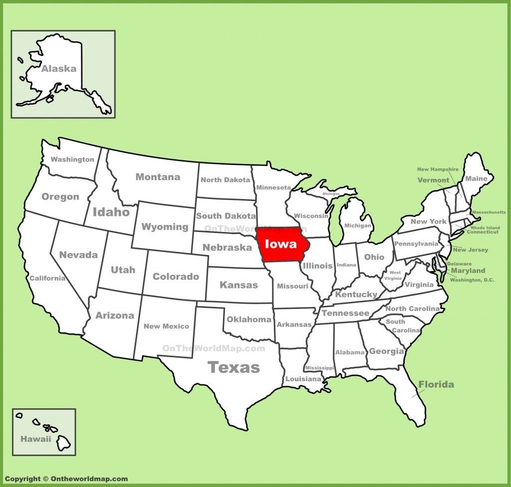 Iowa State Maps | Usa | Maps Of Iowa (Ia) - Printable Map Of Iowa
