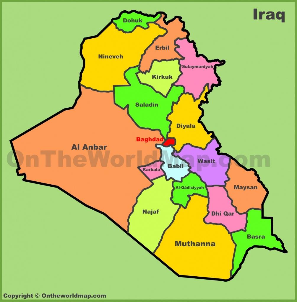 Iraq Maps   Maps Of Iraq - Printable Map Of Iraq