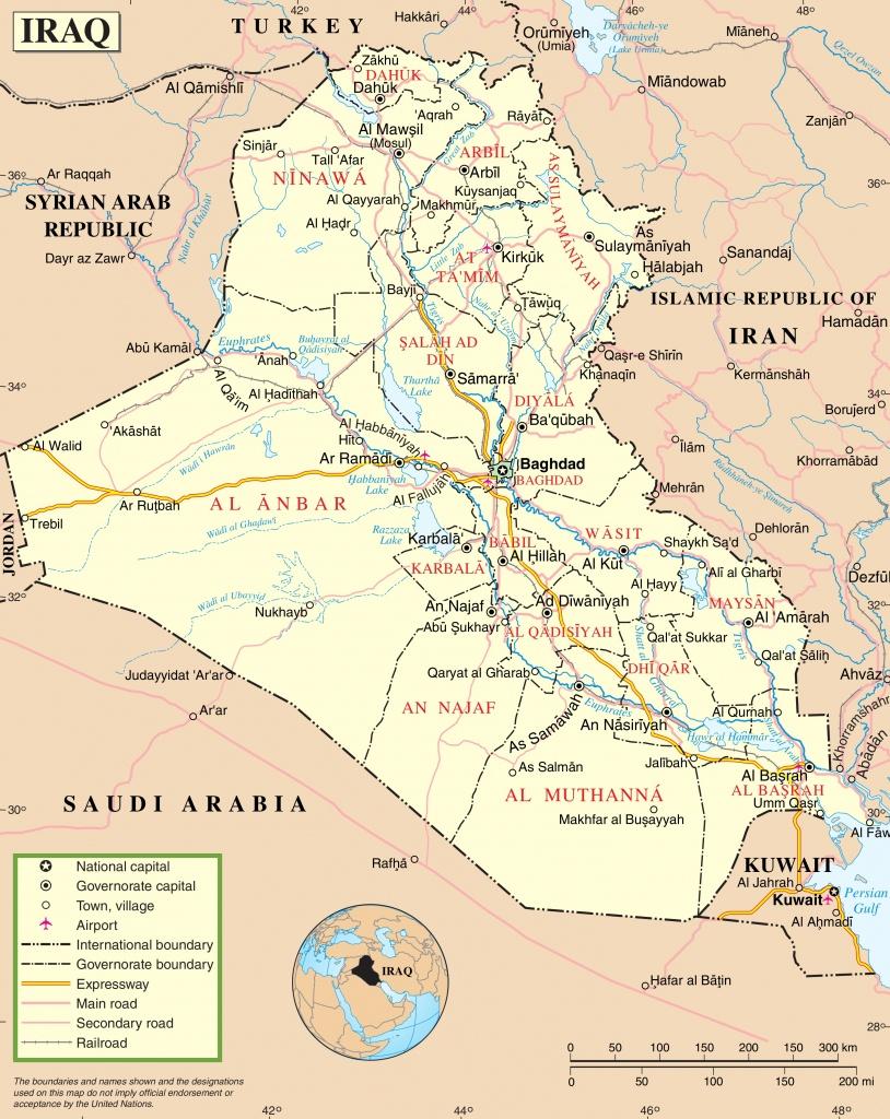 Iraq Road Map - Printable Map Of Iraq