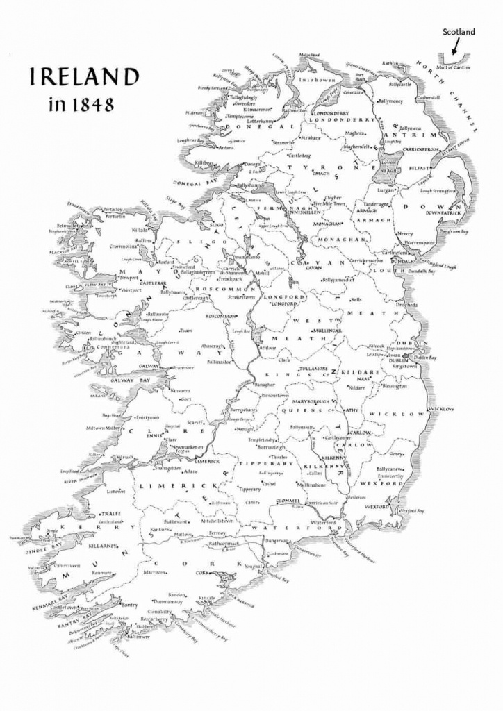 Ireland Geography - Basic Facts About The Island - Printable Map Of Ireland Counties And Towns