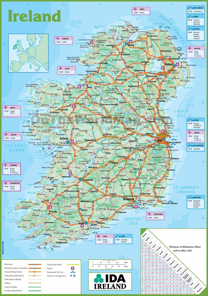 Ireland Maps | Maps Of Republic Of Ireland - Printable Map Of Ireland Counties And Towns