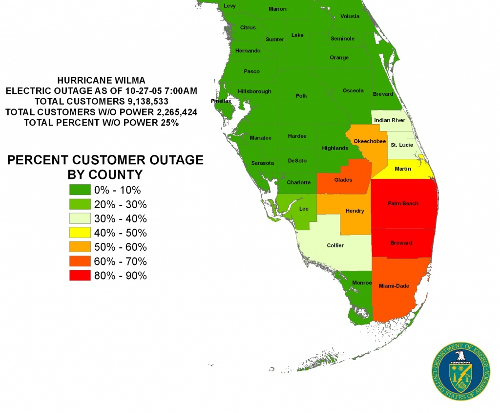 Iser - Gulf Coast Hurricanes - Power Outages In Florida Map