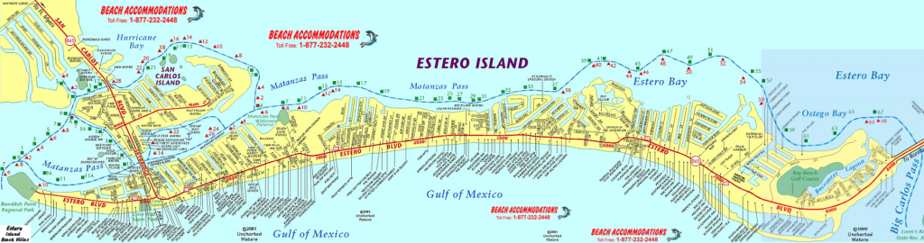 Island Map & Weather   Beach Accommodations Vacation Rentals   Fort - Estero Beach Florida Map