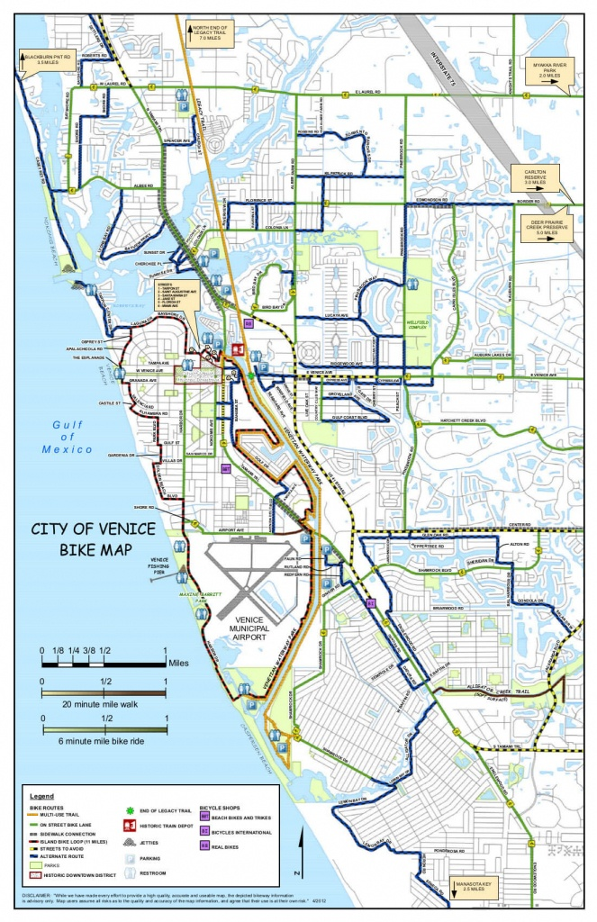 Island Parking - Visit Venice Fl - Map Of Florida Showing Venice Beach