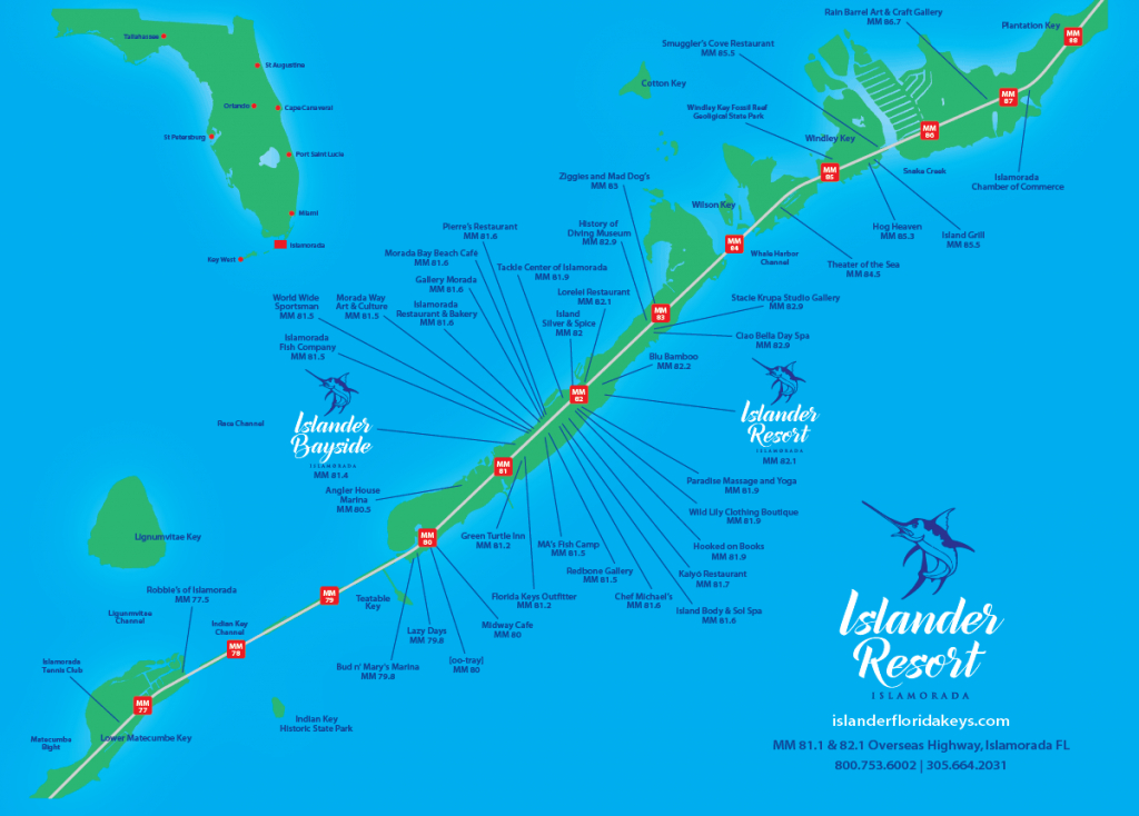 Islander Resort | Islamorada, Florida Keys - Cayo Marathon Florida Map