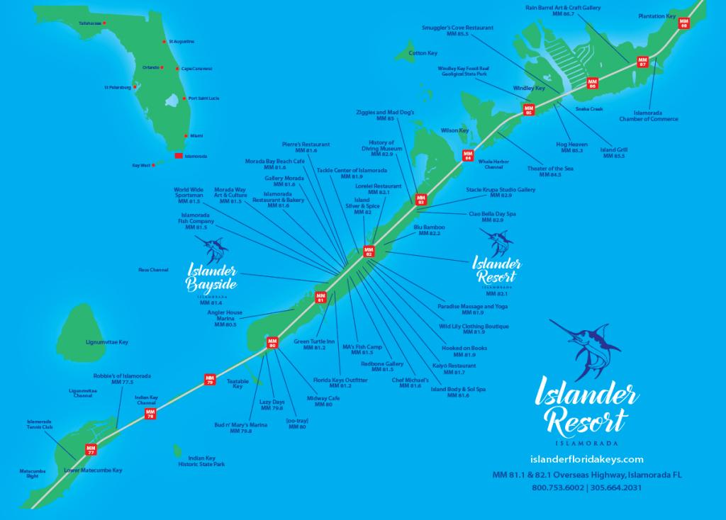 Islander Resort | Islamorada, Florida Keys - Cayo Marathon Florida Map