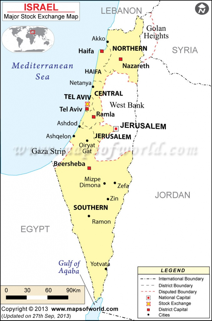 Israel Stock Exchange Map - Blank Map Israel Printable
