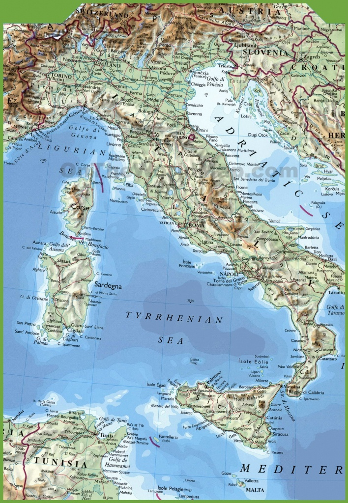 Italy Maps | Maps Of Italy - Printable Map Of Northern Italy