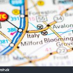Italy Texas Usa On Map Stock Photo (Edit Now) 794436151   Italy Texas Map