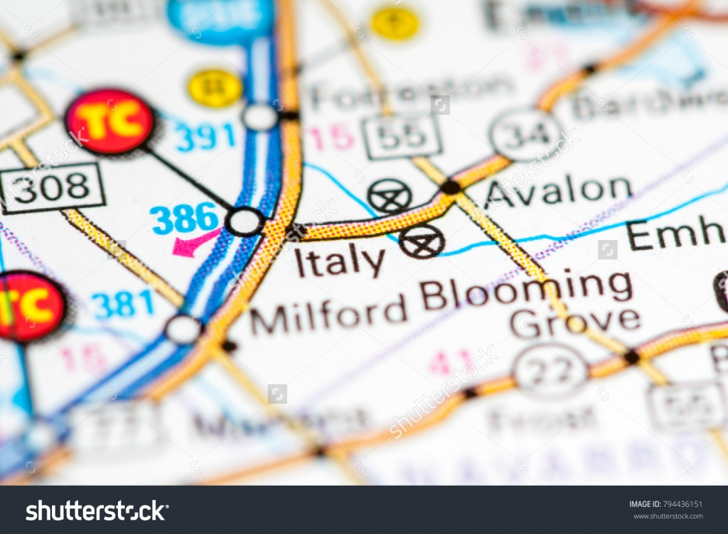 Italy Texas Usa On Map Stock Photo (Edit Now) 794436151 - Italy Texas Map