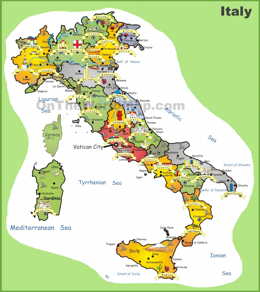 Italy Tourist Map - Printable Map Of Italy