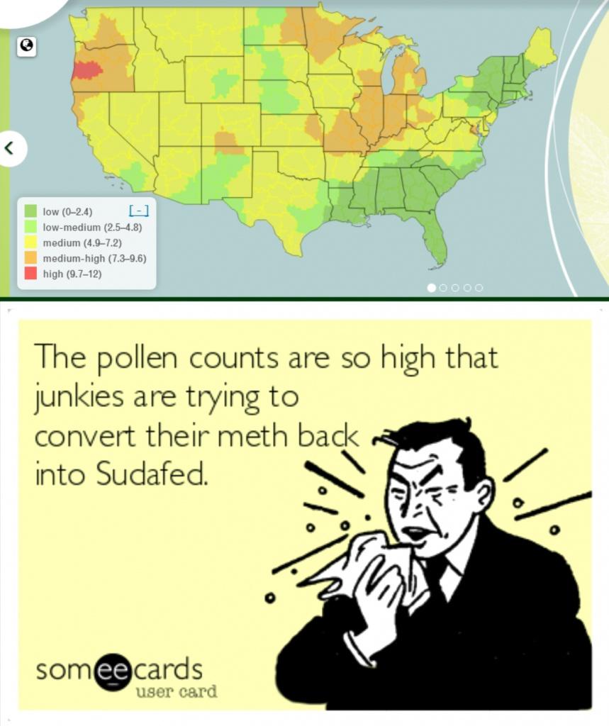 It's Allergy Season In Meth Country! - Album On Imgur - Florida Pollen Map