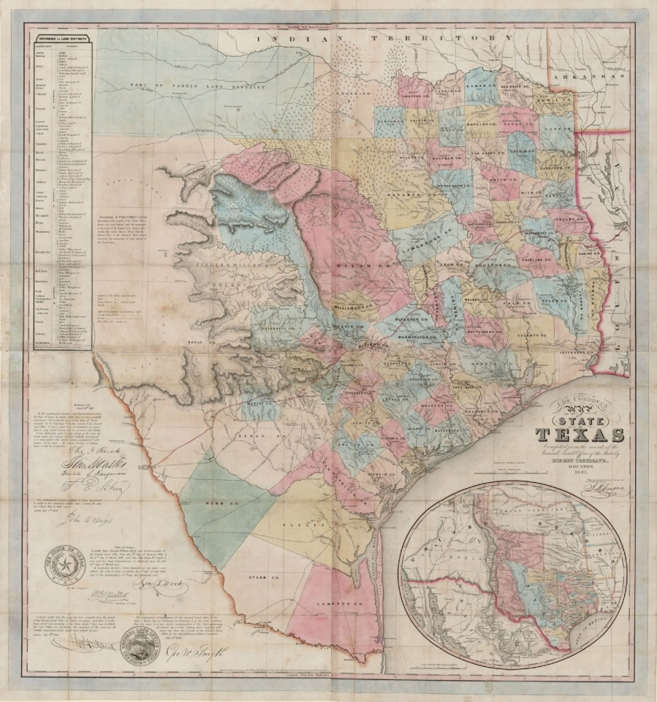 J. De Cordova's Map Of The State Of Texas… – Save Texas History – Medium - Texas General Land Office Maps
