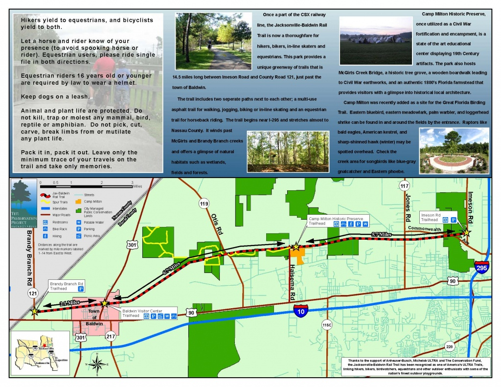 Jacksonville-Baldwin Rail Trail | Timucuan Parks Foundation - Florida Rails To Trails Maps
