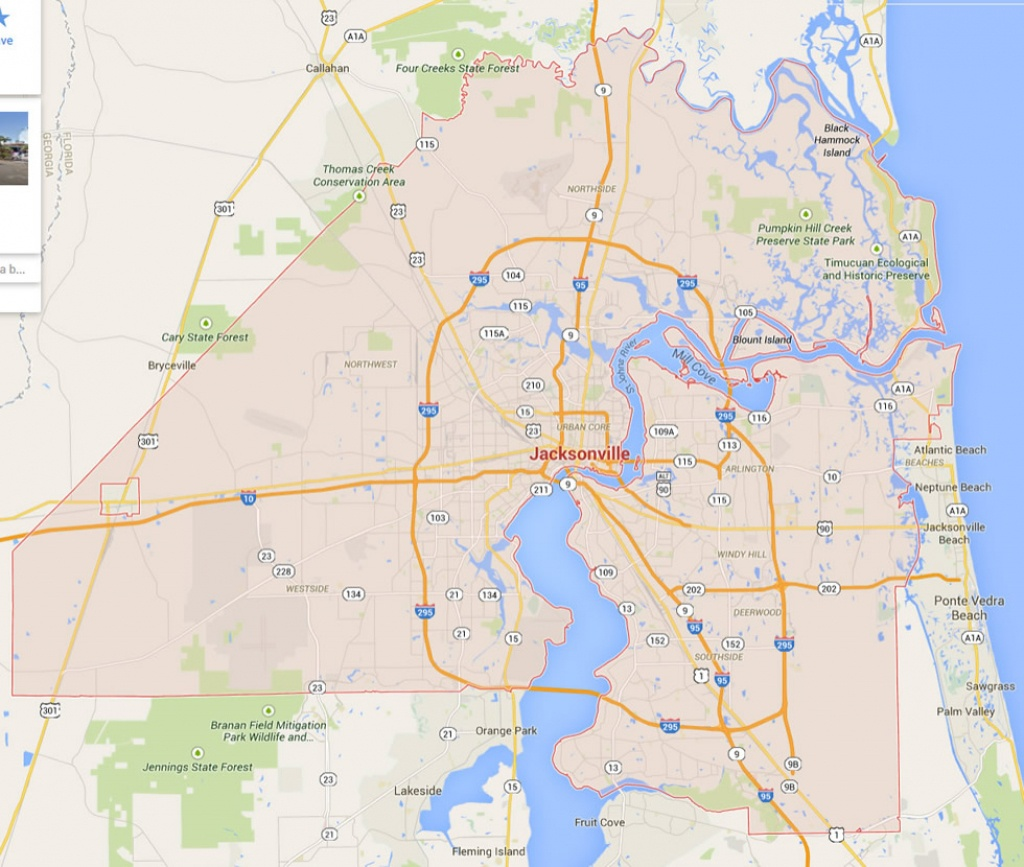 Jacksonville, Florida Map - Google Maps Port Charlotte Florida