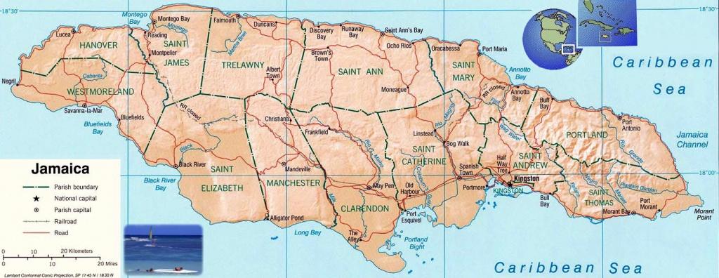 Jamaica Maps | Printable Maps Of Jamaica For Download - Printable Map Of Jamaica