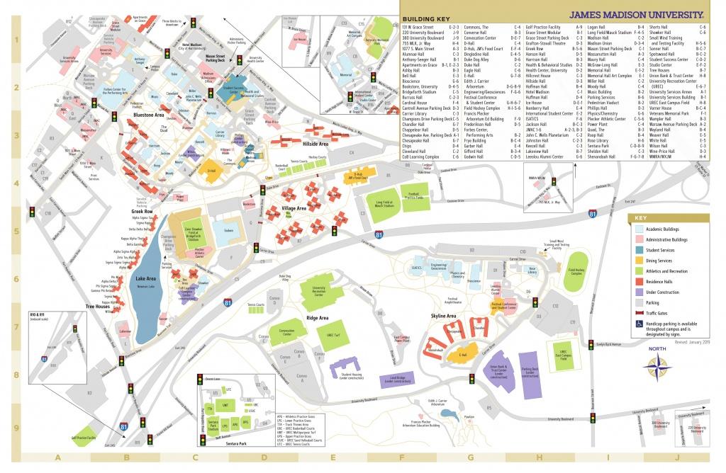 James Madison University - Campus Map - Duke University Campus Map Printable