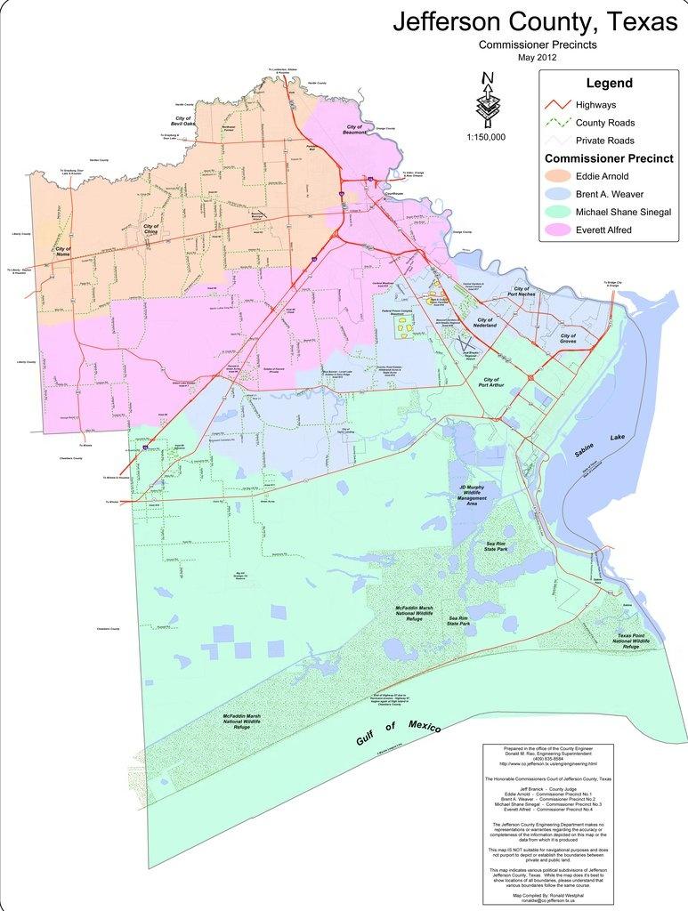 Jefferson County - Maplets - Jefferson County Texas Map