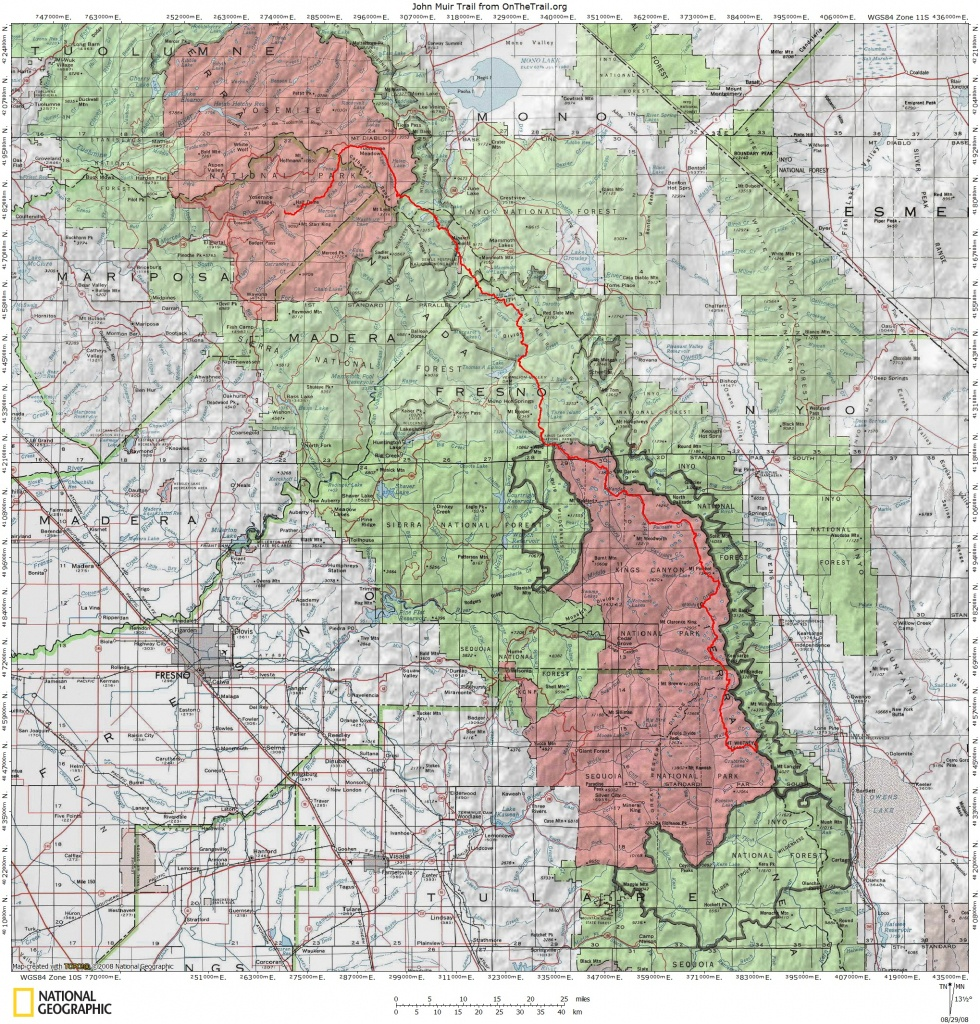 Jmt Topo Maps | Onthetrail - On The Trail Guide To The Outdoors - Printable Topo Maps Online