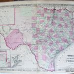Johnson's New Map Of The State Of Texas   Antique Maps And Charts   Antique Texas Map Reproductions