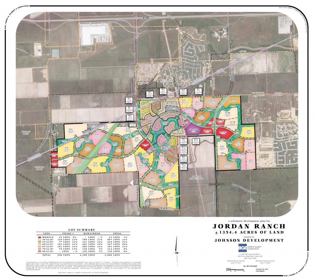 Jordan Ranch   Katy Commercial Real Estate   Johnson Development Corp. - Texas Grand Ranch Map