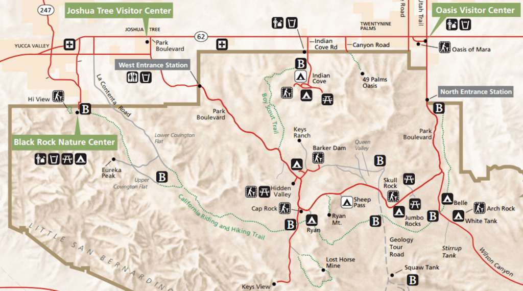 Joshua Tree Backpacking: The California Hiking & Riding Trail - Backpacking Maps California