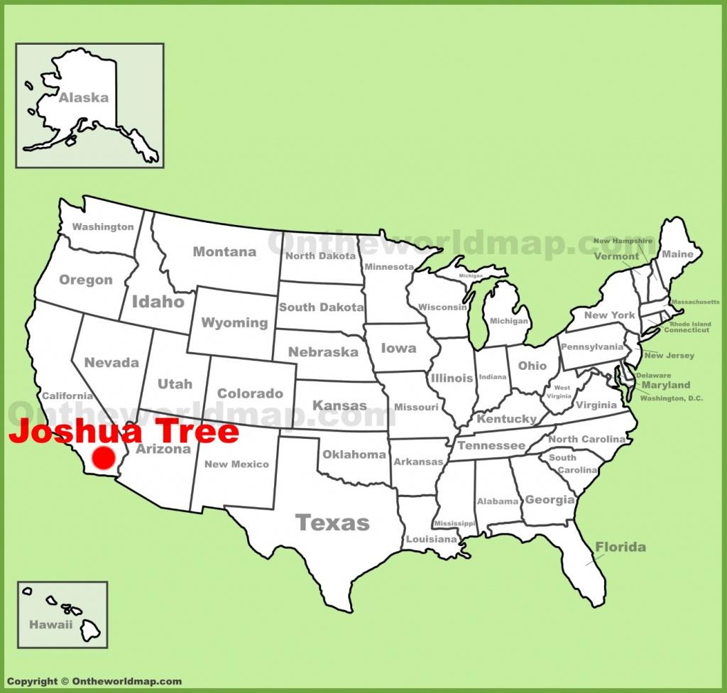 Joshua Tree Maps | Usa | Maps Of Joshua Tree National Park - Texas Tree Map