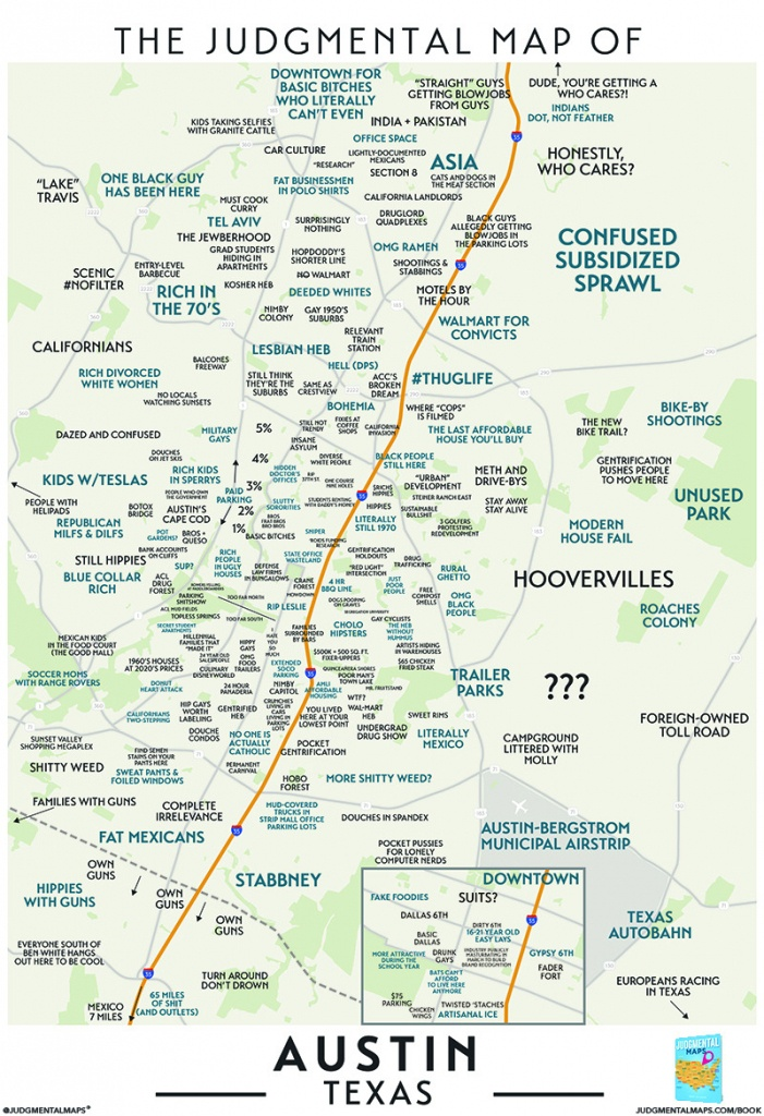 Judgmental Maps — Austin, Txtrent, Brian, John, Alex, Armando, - Austin Texas Map