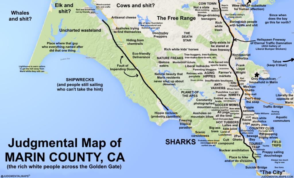 Judgmental Maps — Marin County, Caken P. Copr. 2016 Ken P. All - Marin County California Map