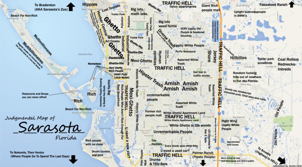 Judgmental Maps — Sarasota, Fltony Copr. 2014 Tony. All Rights - Sarasota Bradenton Florida Map