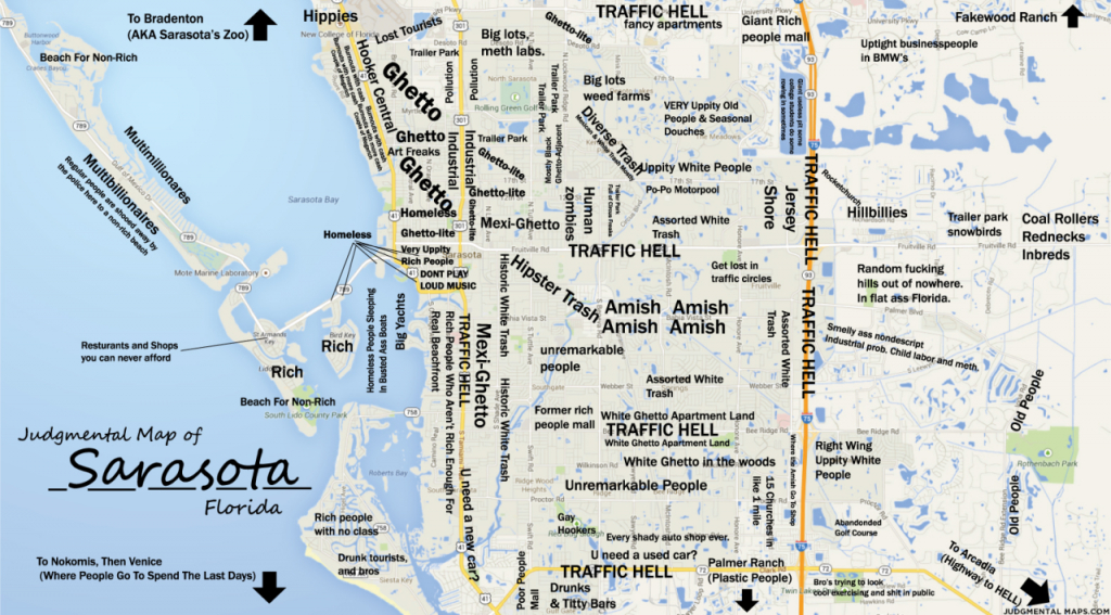 Judgmental Maps — Sarasota, Fltony Copr. 2014 Tony. All Rights - Show Sarasota Florida On A Map