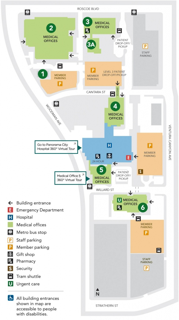Kaiser Permanente Panorama City Campus Map | Map Of Us Western States - Kaiser Permanente Locations In California Map