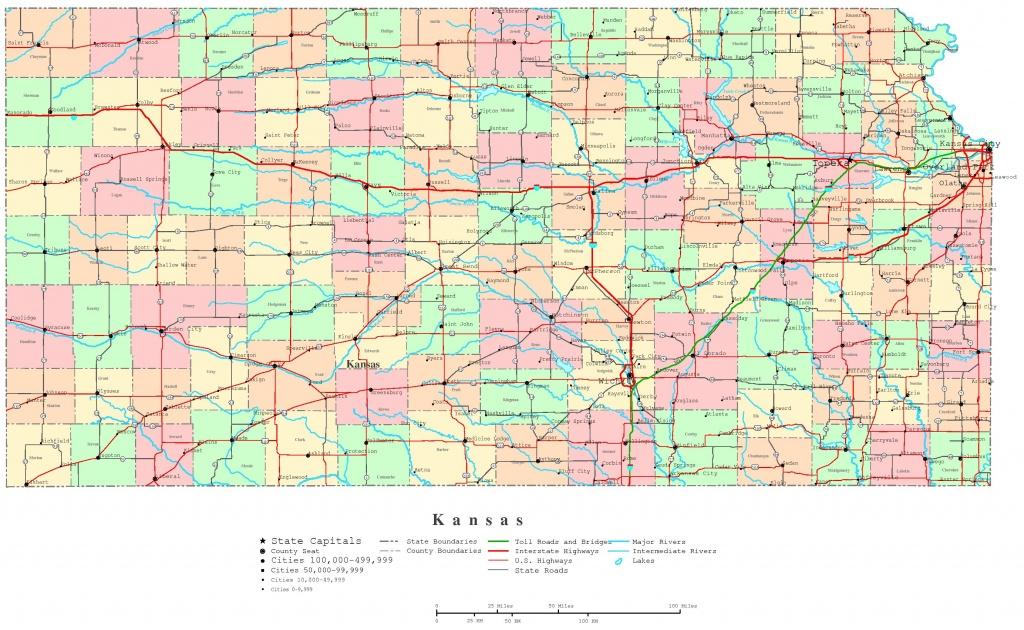 Kansas Printable Map - Printable County Maps