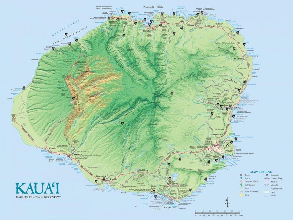 Kauai Island Maps & Geography | Go Hawaii - Printable Driving Map Of Kauai