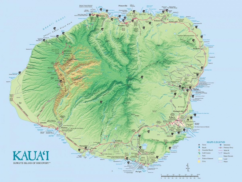 Kauai Island Maps & Geography | Go Hawaii - Printable Map Of Kauai