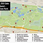 Keeping Up With The Kiddos: Stl 250 Cake Quest   Forest Park (Part 2)   Forest Park St Louis Map Printable