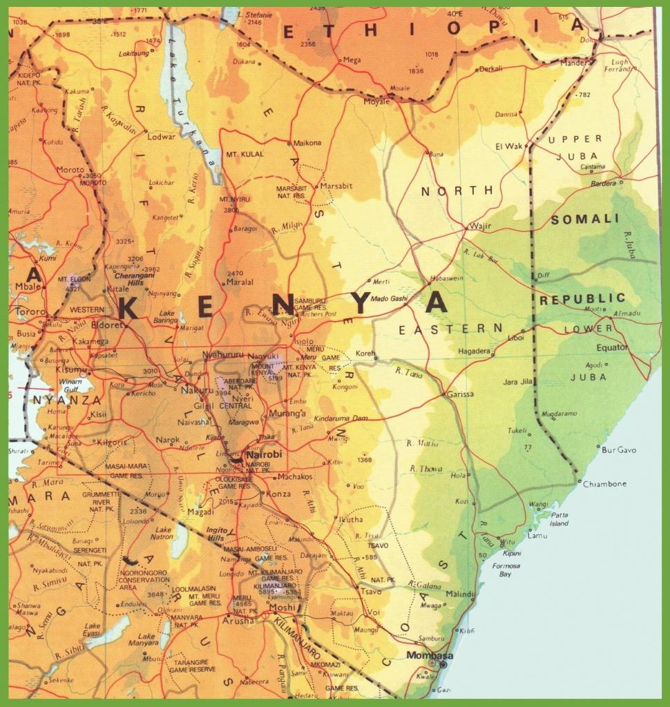 Kenya Road Map - Printable Map Of Kenya