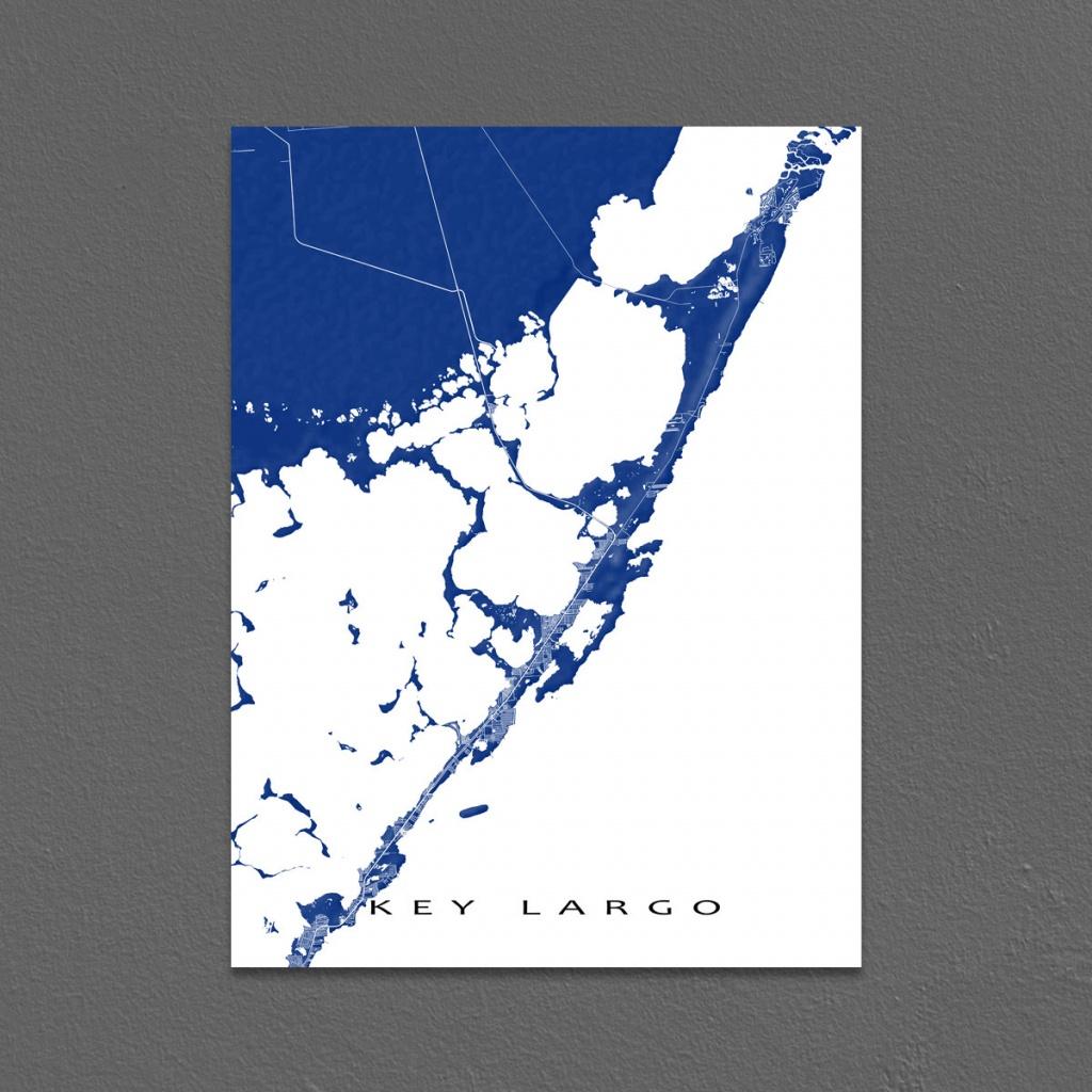 Key Largo Map Print Key Largo Florida Keys Art Key Largo   Etsy - Florida Keys Map Art