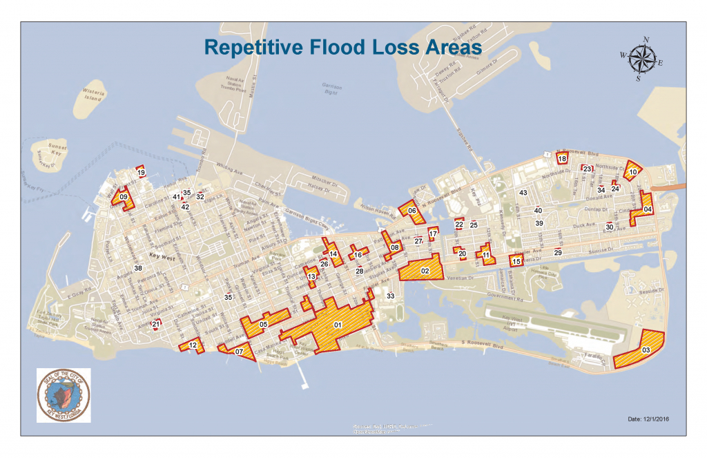 Key West, Fl / Historical Flooding - Florida Keys Flood Zone Map