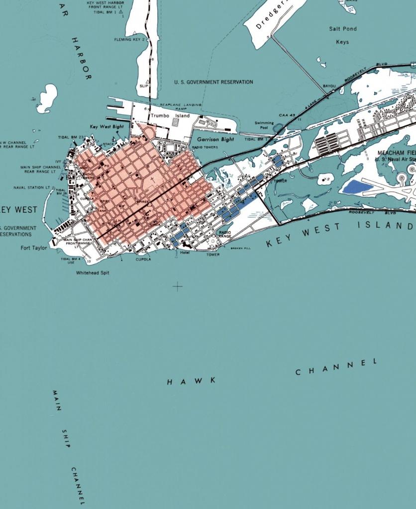Key West Key West Map Key West Art Beach House Decor   Etsy - Printable Map Of Key West