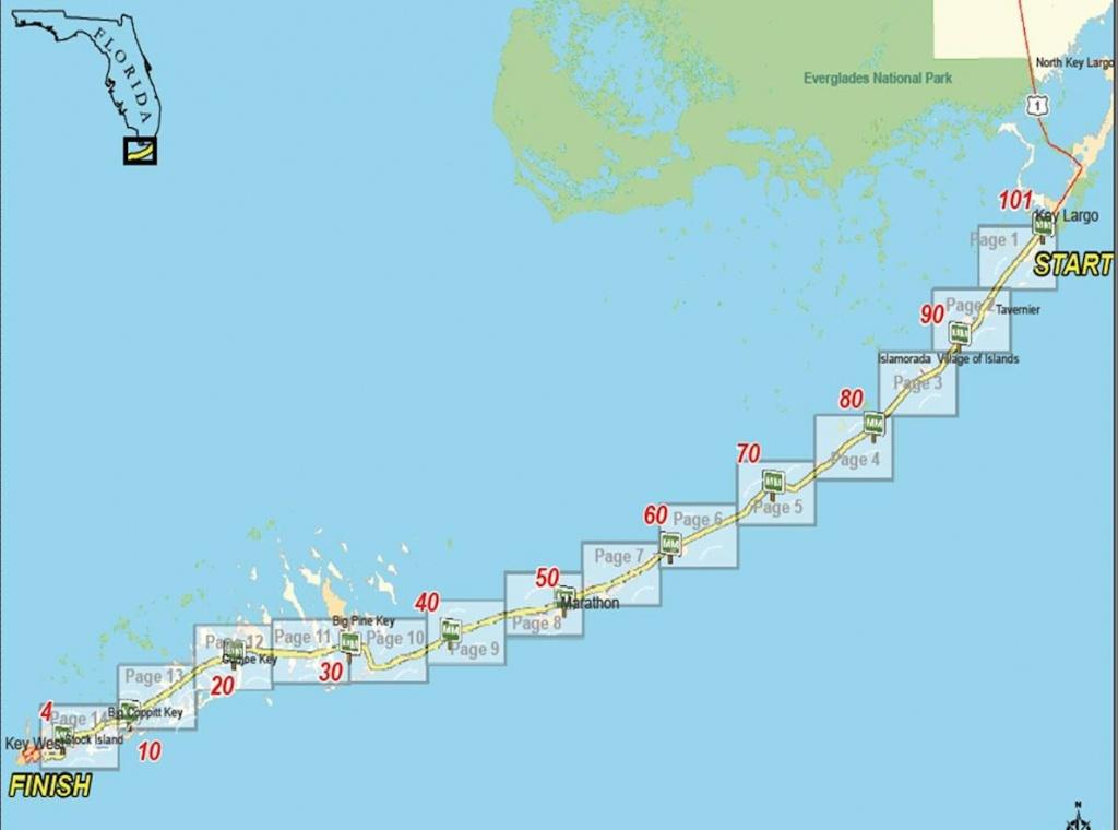 Keys 100 | World's Marathons - Florida Keys Highway Map