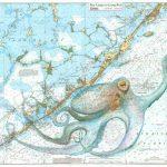 Keys Octopus   Florida Keys Map Art