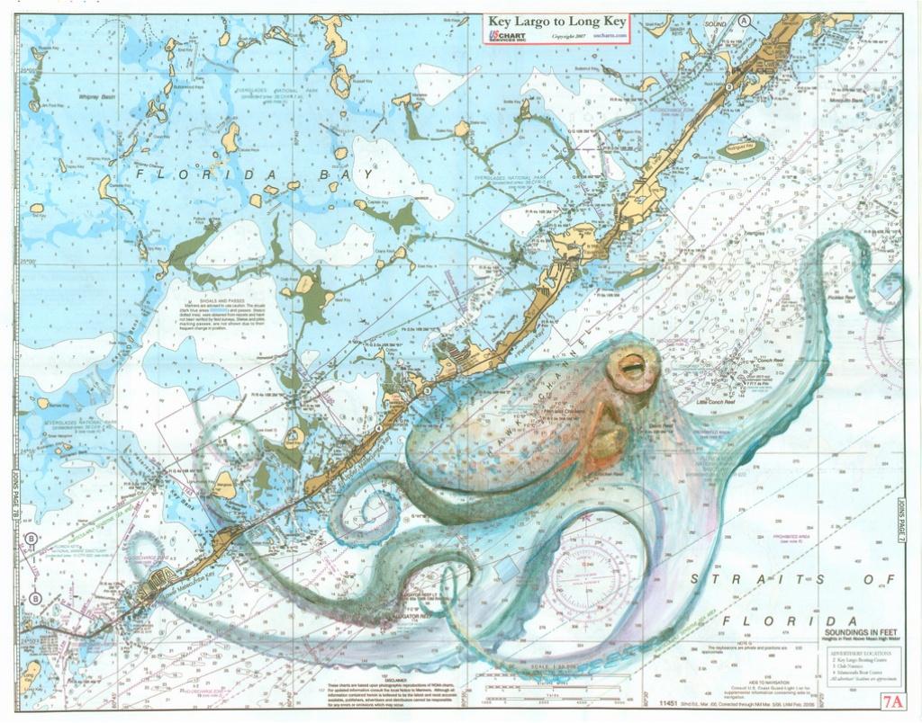 Keys Octopus - Florida Keys Nautical Map