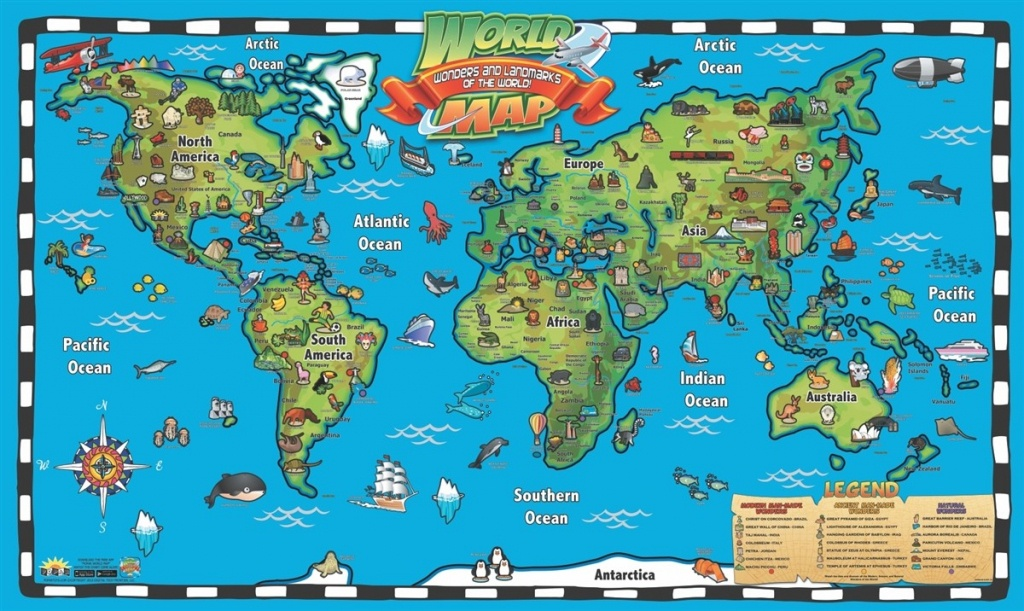 Kids 1 Children S Map Of The World 7 - World Wide Maps - Printable Children's Map Of The United States