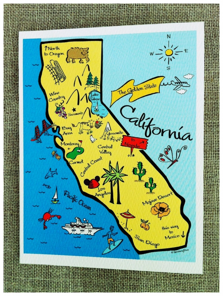 Kids Map Of California Il Fullxfull K Website Inspiration For - California Map For Kids