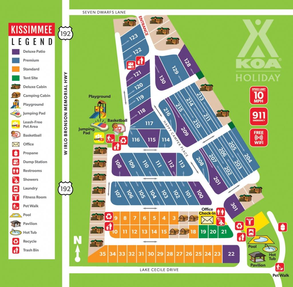 Kissimmee, Florida Campground | Orlando / Kissimmee Koa - Koa Florida Map