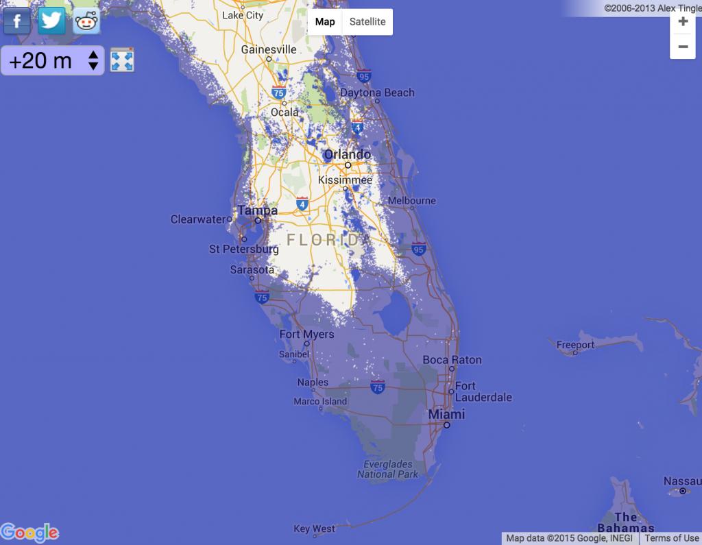 Kmeme: Slow Global Warming - Florida Map After Global Warming