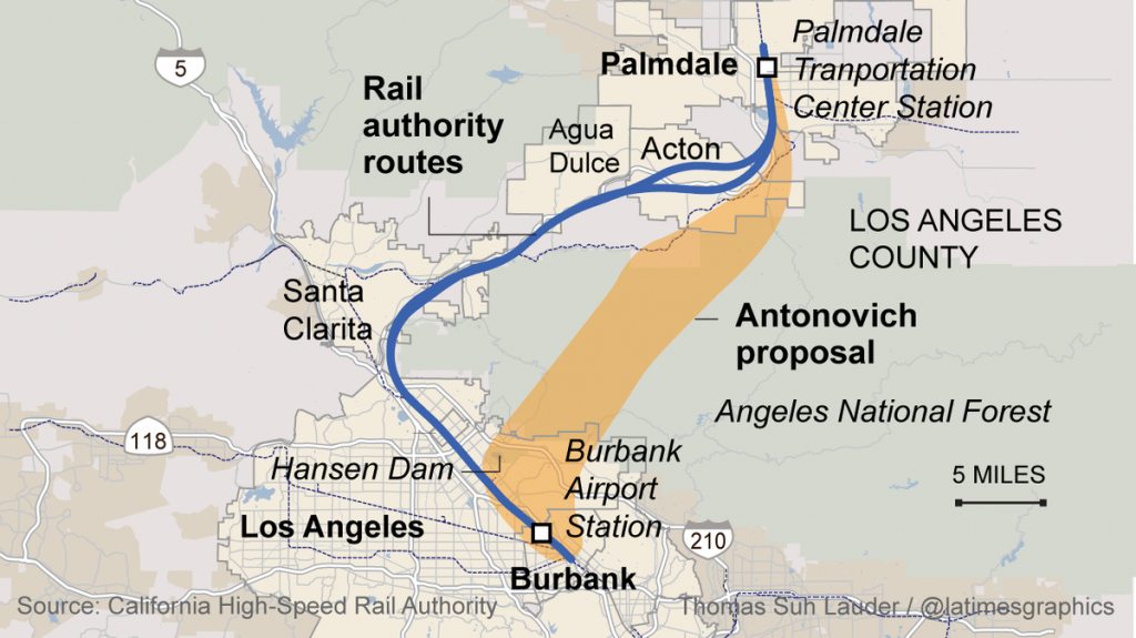 L.a. County Supervisor's Alternate Bullet-Train Route Gaining - California Bullet Train Map
